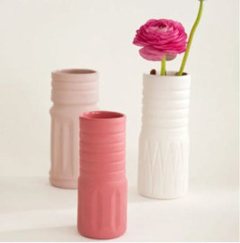 Vaas 'Waste Not Wasted' small roze strepen