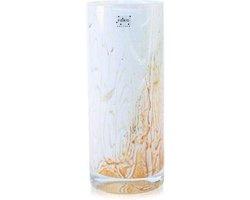 Design vaas Cilinder - Fidrio RUSTY - glas, mondgeblazen bloemenvaas - diameter 12 cm hoogte 25 cm