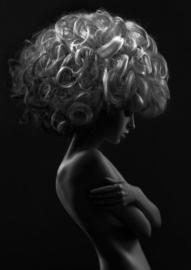 80 x 120 cm - Glasschilderij - schilderij fotokunst - model - vrouw -  foto print op glas