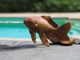 Tuinbeeld - glassculptuur - beeld - vis waterfontein
