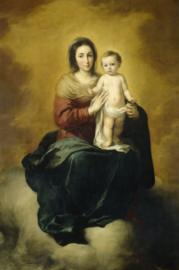 80 x 120 cm - Plexiglas schilderij - Maria met kind - klassieke kunst afbeelding op acryl - oude meesters!