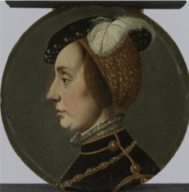 Schilderij Dibond - Anna van Lotharingen