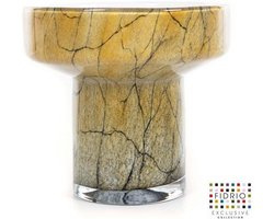 Design vaas Evoluon small - Fidrio DESSERT - glas, mondgeblazen bloemenvaas - diameter 18 cm hoogte 16,5 cm
