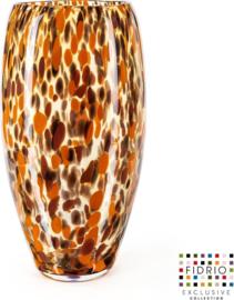 Design vaas Oval - Fidrio Havanna - Bloemenvaas glas, mondgeblazen - hoogte 40 cm