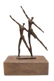Urn brons - bronzen beeldje - sculptuur - eindeloos - 24 cm hoog - Martinique