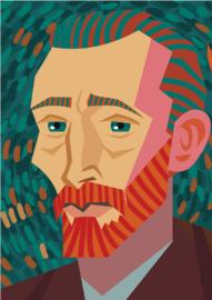 Schilderij Dibond - Foto op aluminium - Zelfportret - Vincent Van Gogh