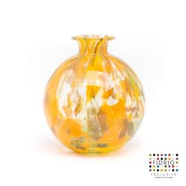 Design vaas Fidrio - glas kunst sculptuur - Botanic - bolvase - mondgeblazen - 19 cm diep --