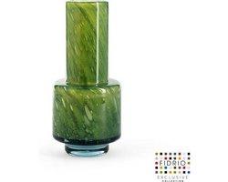 Design vaas nuovo - Fidrio AMAZONE - glas, mondgeblazen bloemenvaas - diameter 14,5 cm hoogte 30 cm