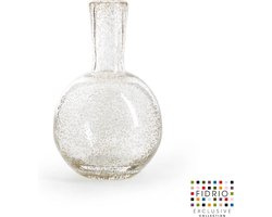 Design vaas Globe small - Fidrio BUBBLES CLEAR - glas, mondgeblazen bloemenvaas - hoogte 20 cm