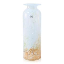Design vaas Fidrio - glas kunst sculptuur - riga - Rusty - mondgeblazen - 45 cm hoog