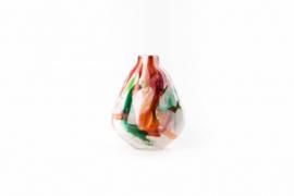 Design vaas Fidrio - glazen sculptuur - pear scissors - Mixed colours - mondgeblazen - 20 cm hoog --