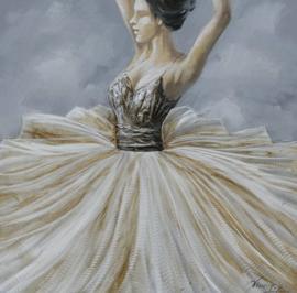 Olieverfschilderij - Danseres - 100x100 cm