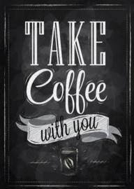 80 x 120 cm - Schilderij Dibond - Koffie