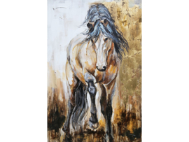 Olieverf Schilderij Paarden - 80x120 cm