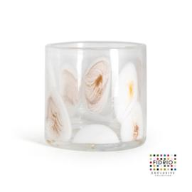 Design vaas Fidrio - glas kunst sculptuur - cilinder - Marrone - 15 cm hoog