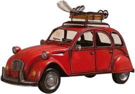 43 x 30 cm - Wanddecoratie metaal oldtimer - Auto Citroën 2CV