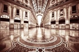 160 x 110 cm - Glasschilderij - schilderij fotokunst - Galleria Vittorio Emanuele - foto print op glas