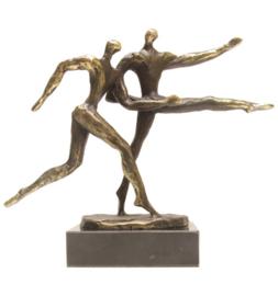Bronzen beeldje - sculptuur - abstract - een voorsprong hebben - Martinique