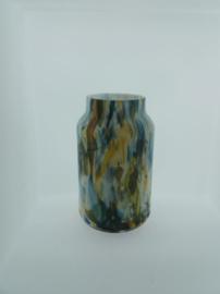 Design vaas Fidrio - glas kunst sculptuur - bloom - colori - mondgeblazen - 30 cm hoog --