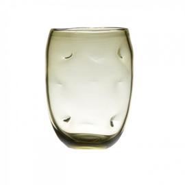 Design vaas Pot & vaas - glas kunst sculptuur - gekleurd glas - Vaas Rocky groen -  30 cm hoog --