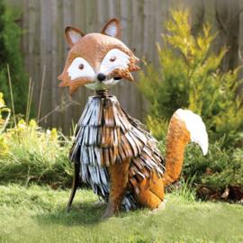 Tuinbeeld  - beeld metalen vos