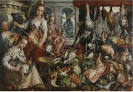 120 x 80 cm - Plexiglas klassiek Schilderij - De Welvoorziene Keuken - klassieke afbeelding op acryl - oude meesters!