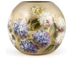 Design vaas Bolvase - Fidrio HORTENSIA - HANDPAINTED - glas, mondgeblazen bloemenvaas - diameter 25 cm