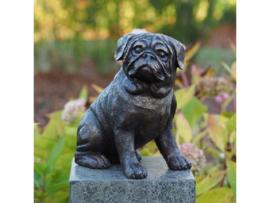 Beeld brons - Tuinbeeld - bronzen beeld - Hond - Bronzartes