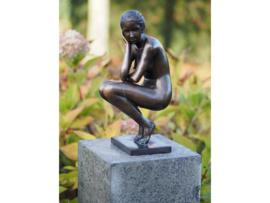 Tuinbeeld - bronzen beeld - Naakte vrouw - Bronzartes