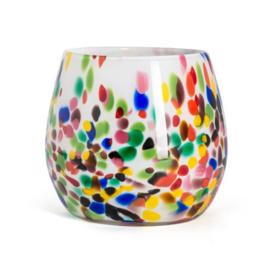 Design vaas Fidrio - Fiore Candy - gekleurd glas - mondgeblazen - 22 cm hoog --