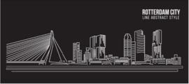 120 x 80 cm - Plexiglas Schilderij - Rotterdam City - reclame kunst afbeelding op acryl