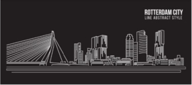 Plexiglas Schilderij - Rotterdam City