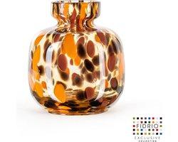 Design vaas Olympia Small - Fidrio Havanna - Bloemenvaas glas, mondgeblazen - hoogte 14,5 cm