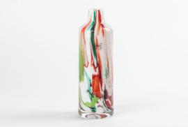 Vaas Fidrio - glazen sculptuur - mixed colours - mondgeblazen