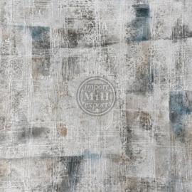 150 x 150 cm - Olieverfschilderij - Abstract - linnen look - olie op canvas