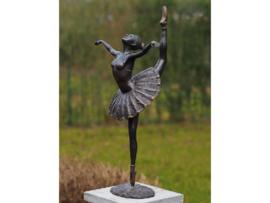 Tuinbeeld - bronzen beeld - Ballerina - Bronzartes - 65 cm hoog