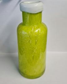 Design fles blottle - Fidrio misty green - bloemenvaas, glas, mondgeblazen - hoogte 21 cm --