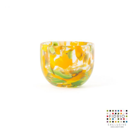 Design vaas Fidrio - glas kunst sculptuur - Botanic - candleholder - mondgeblazen - 7 cm hoog