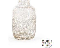 Design vaas Toronto - Fidrio BUBBLES CLEAR - glas, mondgeblazen bloemenvaas - hoogte 15 cm --