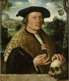 Schilderij Dibond - Pompeius Occo Portret