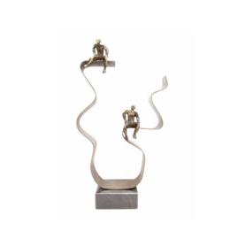 Beeld brons - sculptuur - abstract -  de ontmoetingsplek - 30 cm hoog - voor huis en tuin - Martinique