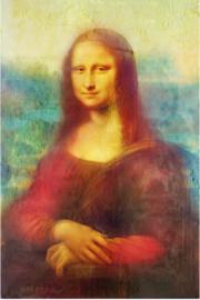 Foto op hout - Mona Lisa