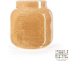 Design vaas fiore - Fidrio copper - Bloemenvaas glas, mondgeblazen - hoogte 22 cm