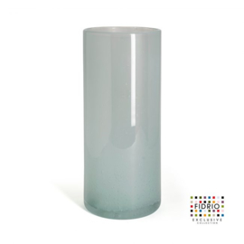 Design vaas Fidrio - glas kunst sculptuur - cilinder - Pacific - mondgeblazen - 39 cm hoog