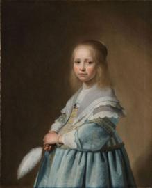 80 x 120 cm - Schilderij Dibond - Meisje - Johannes Cornelisz. Verspronck