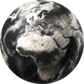 Diameter 100 - rond Glasschilderij - Wereldbol - rond schilderij fotokunst - Foto print op glas