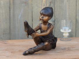 Beeldje  brons - Tuinbeeld Ballerina - Bronzartes