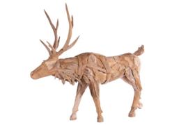 Houten kunst - Beeld - sculptuur - houten rendier