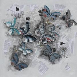 Olieverfschilderij - Vlinders