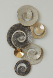 Metalen wanddecoratie - wanddeco - spiraalvorm